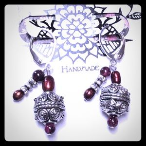 Power Packed Garnet Earrings
